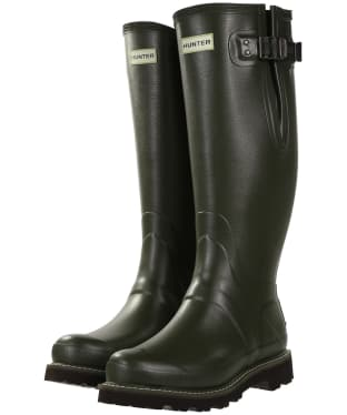 Men's Hunter Field Balmoral Neoprene Lined Wellington Boots - Dark Olive