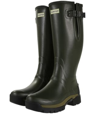 Men's Hunter Balmoral II Bamboo Carbon Wellington Boots - Dark Olive
