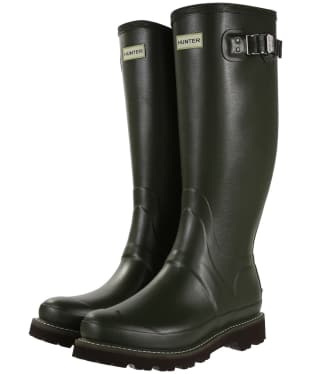 Men's Hunter Field Balmoral II Wellingtons - Dark Olive
