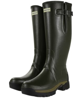 Men's Hunter Balmoral Adjustable 3mm Neoprene Lined Wellington Boots - Dark Olive