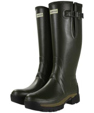 Men's Hunter Balmoral Adjustable 3mm Neoprene Lined Wellington Boots - Dark Olive