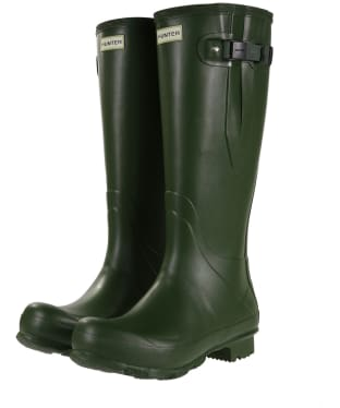 Men's Hunter Norris Field Adjustable Wellingtons - Vintage Green
