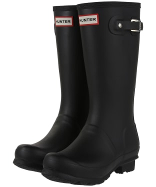 Hunter Original Kids Wellington Boots, 7-11 - Black