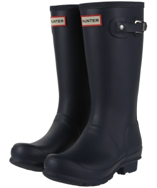 Hunter Original Kids Wellington Boots, 12-4 - Navy