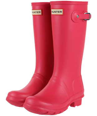 Hunter Original Kids Wellington Boots, 12-4 - Bright Pink