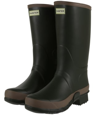 Women's Hunter Field Gardener Boots - Dark Olive / Clay