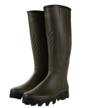 Men's Le Chameau Ceres Jersey Lined Wellingtons - Vert Chameau