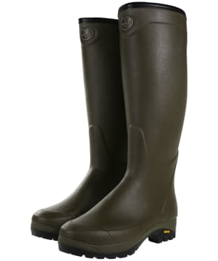 Le Chameau Country Vibram 3mm Neoprene Lined Wellington Boots - Vert Chameau