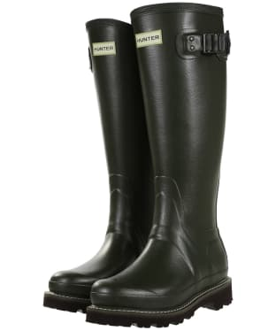 Women's Hunter Field Balmoral Poly-Lined Wellingtons - Dark Olive