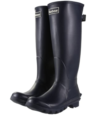 Women's Barbour Jarrow Back Adjustable Wellingtons - Navy