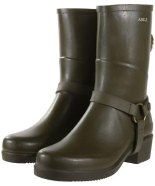 Women's Aigle Miss Julie Short Wellington Boots - Khaki