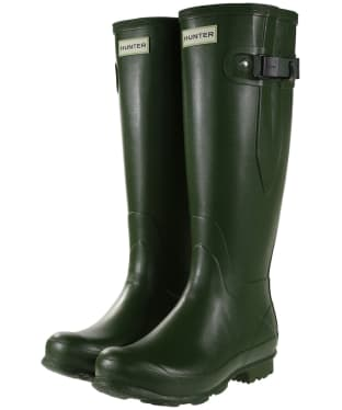Women's Hunter Norris Field Side Adjustable Wellington Boots - Vintage Green