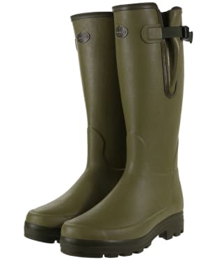 Men's Le Chameau Vierzonord Neo Wellington Boots - 41 cm calf - Green