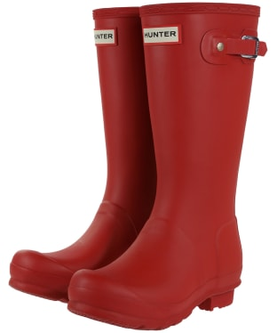 Hunter Original Kids Wellington Boots, 12-4 - Military Red