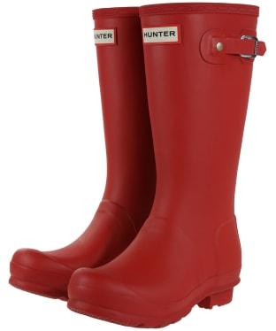 Hunter Original Kids Wellington Boots, 7-11 - Military Red