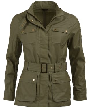 Women's Barbour International Bearings Jacket - Lt Army Green