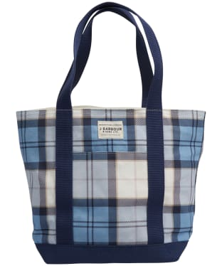Women's Barbour Kirkaldy Tote Bag - Fade Blue Tartan