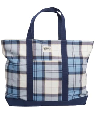 Womens Barbour Kirkwall Tote Bag - Fade Blue Tartan