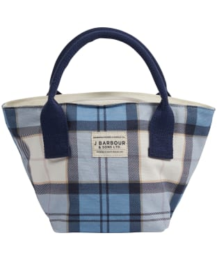 Women's Barbour Leathen Tote Bag - Fade Blue Tartan