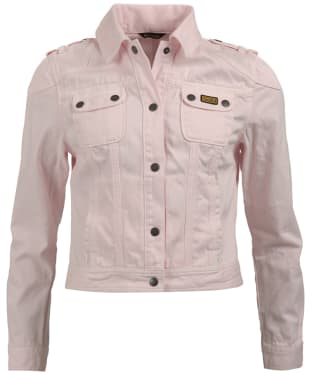 Women's Barbour International Durness Denim Jacket - Pale Pink