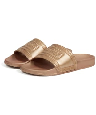 Women's Barbour International Sliders - Copper