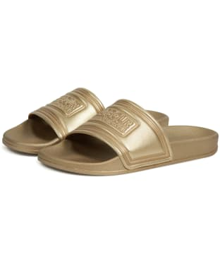 Women's Barbour International Sliders - Gold