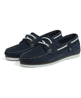 97f77572022 Women s Barbour Bowline Boat Shoes - Navy