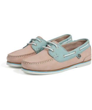 Women's Barbour Bowline Boat Shoes - Light Pink / Light Blue