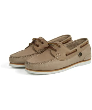 Women's Barbour Bowline Boat Shoes - Stone