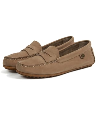 Women's Barbour Danica Driving Moccasins - Stone
