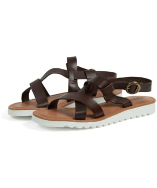 Women's Barbour Sandside Leather Sandals - Chocolate