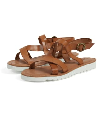 Women's Barbour Sandside Leather Sandals - Tan