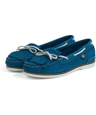 Women's Barbour Ellen Nubuck Boat Shoes - Chambray