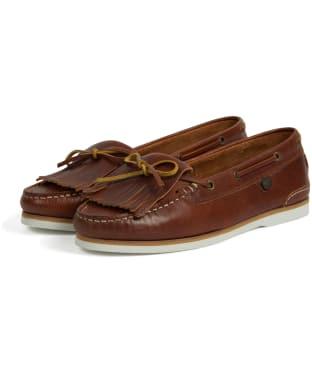 Women's Barbour Ellen Boat Shoes - Cognac