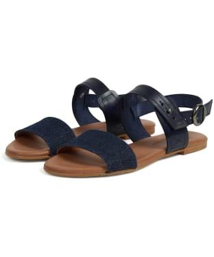 Women's Barbour Sandwood Sandals - Navy