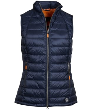 Women's Barbour Deerness Gilet - Navy / Marigold