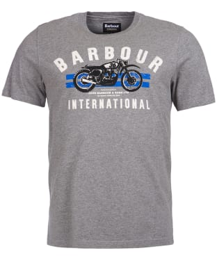 Men's Barbour International Bike Stripes Tee - Anthracite Marl