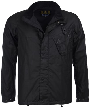 Men's Barbour International Beech Waxed Jacket - Black