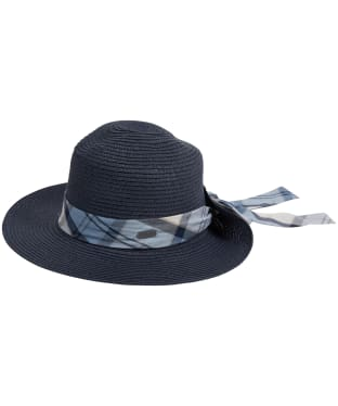 Women's Barbour Lorne Tartan Trimmed Fedora Hat