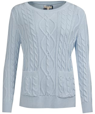 Women's Barbour Malvern Knitted Sweater - Powder Blue