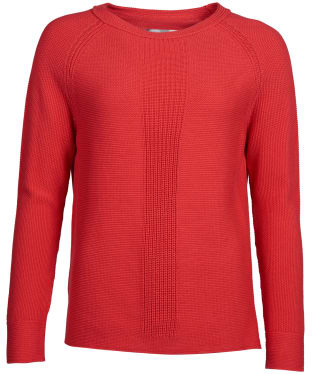 Women's Barbour Carisbrooke Knitted Sweater - Pomegranate