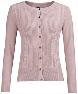 Women's Barbour Causeway Knitted Cardigan - Pale Pink