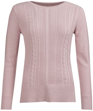 Women's Barbour Hampton Knitted Sweater - Pale Pink