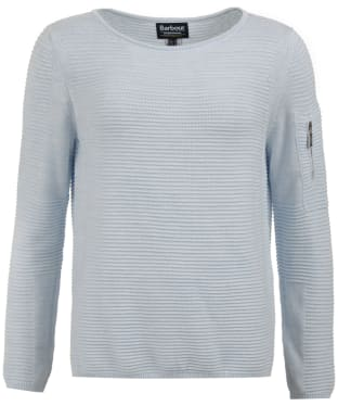 Women's Barbour International Hartle Knitted Sweater - Ice Blue