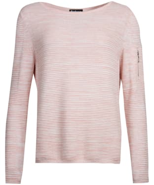 Women's Barbour International Hartle Knitted Sweater - Rose / White