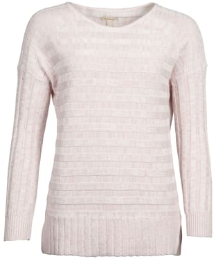 4b57ed57572959 Women s Barbour Portsdown Knit Sweater - Off White   Pink Marl