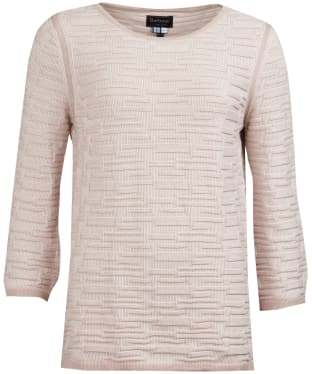 Women's Barbour Islay Knitted Sweater - Pale Pink / Off White