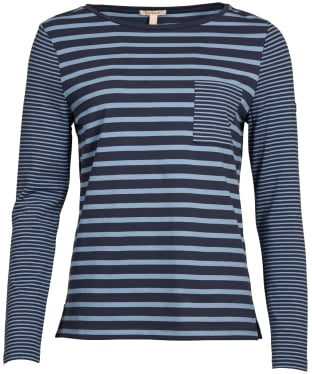 Women's Barbour Ripple Top - Navy / Breeze Blue