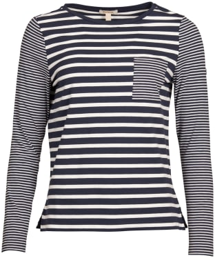 Women's Barbour Ripple Top - Navy / White