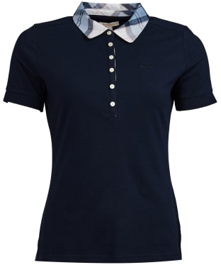 Women's Barbour Malvern Polo Shirt - Navy